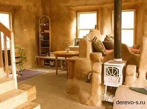 Дома из глины и соломы