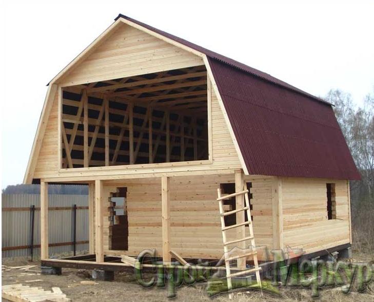 Крыши на домах с мансардой фото