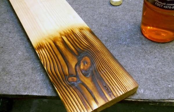 Обожжённое дерево для отделки: преимущества иизготовление своими руками