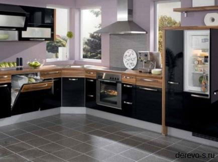 кухня в стиле хай тек из mdf панелей